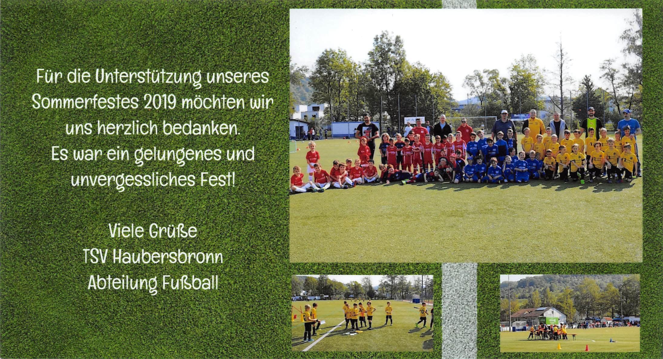 Fußball Mannschaft des TSV Haubersbronn